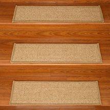 Walmart Natural Area Rugs Soho Carpet Stair Tread Set Of 13   Carpet Stair Treads Walmart   Beige Carpet   Risers   Stair Runner   Tread Rugs   Skid Resistant