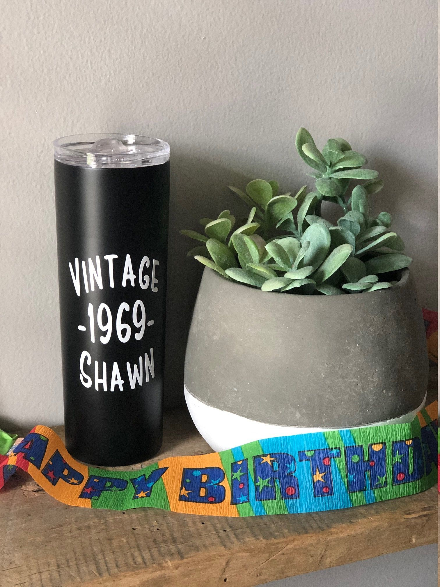 50th birthday gift personalized tumbler with name