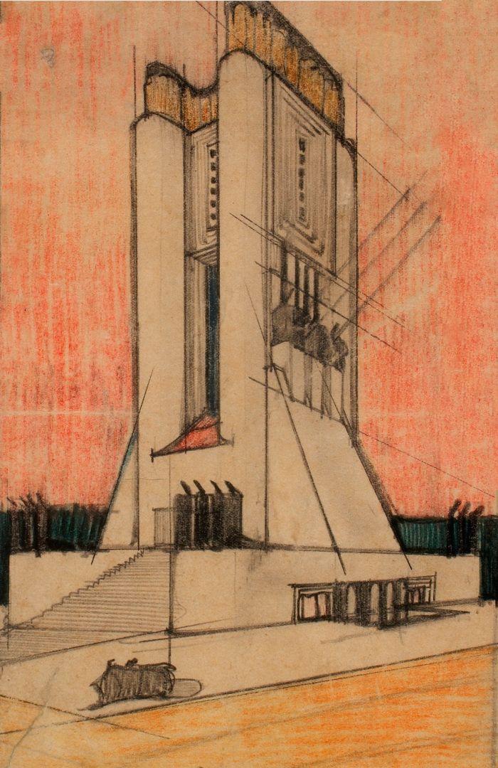 Futuristic Architecture VIII ANTONIO SANT/'ELIA Vintage Futurism Poster