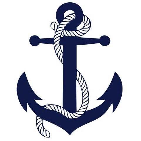 ANCHOR clip art navy blue anchor digital clip art nautical coastal blue clip art Instant download  clip art navy anchors PNG anchors