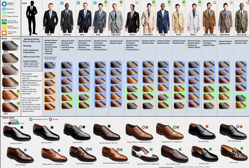 What color shoes with suit