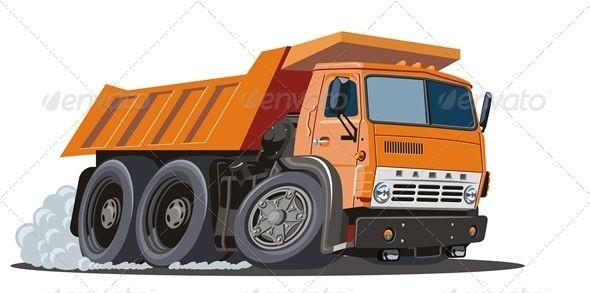 Vector Cartoon Dump Truck Graphicriver Available Ai 10 And Eps