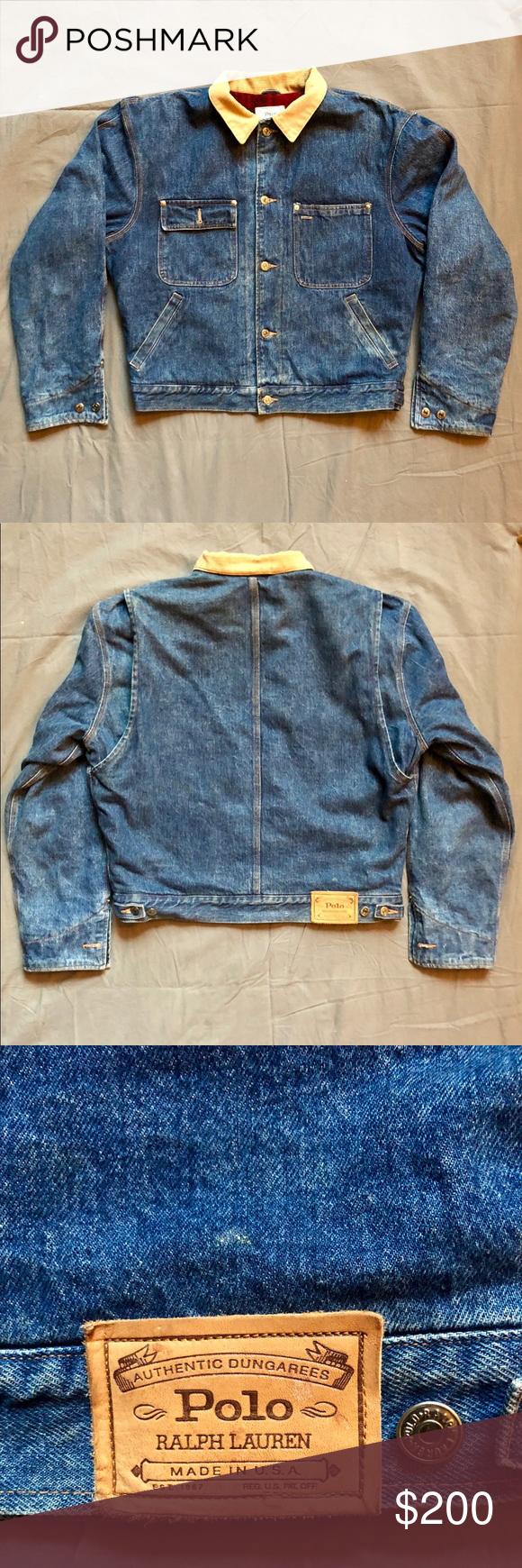 Vintage Polo Ralph Lauren Wool Lining Denim Jacket Vintage Denim Jacket Vintage Polo Polo Ralph Lauren [ 1740 x 580 Pixel ]