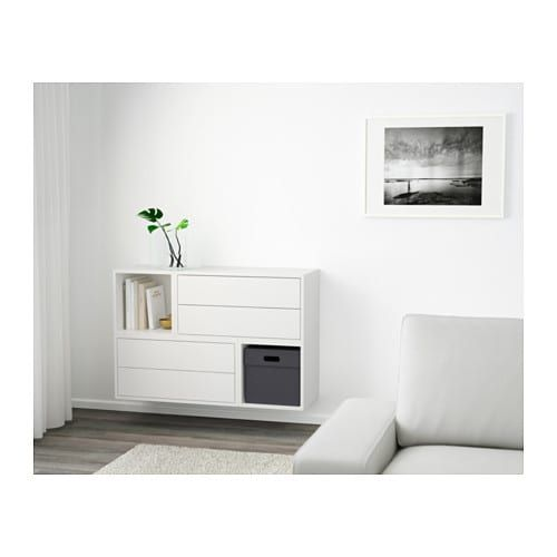 eket schrankkombination f r wandmontage wei in 2019 flur pinterest. Black Bedroom Furniture Sets. Home Design Ideas