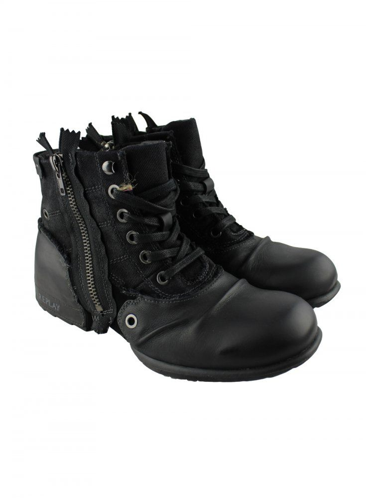 fc67ff146a REPLAY Replay Mens Black Boots - REPLAY from Ghia Menswear UK