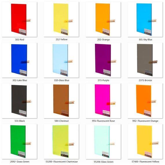 Acrylic Pmma Tinted Color Sheets 3 0mm Thickness Etsy In 2020 Colored Acrylic Sheets Colour Tint Acrylic Sheets