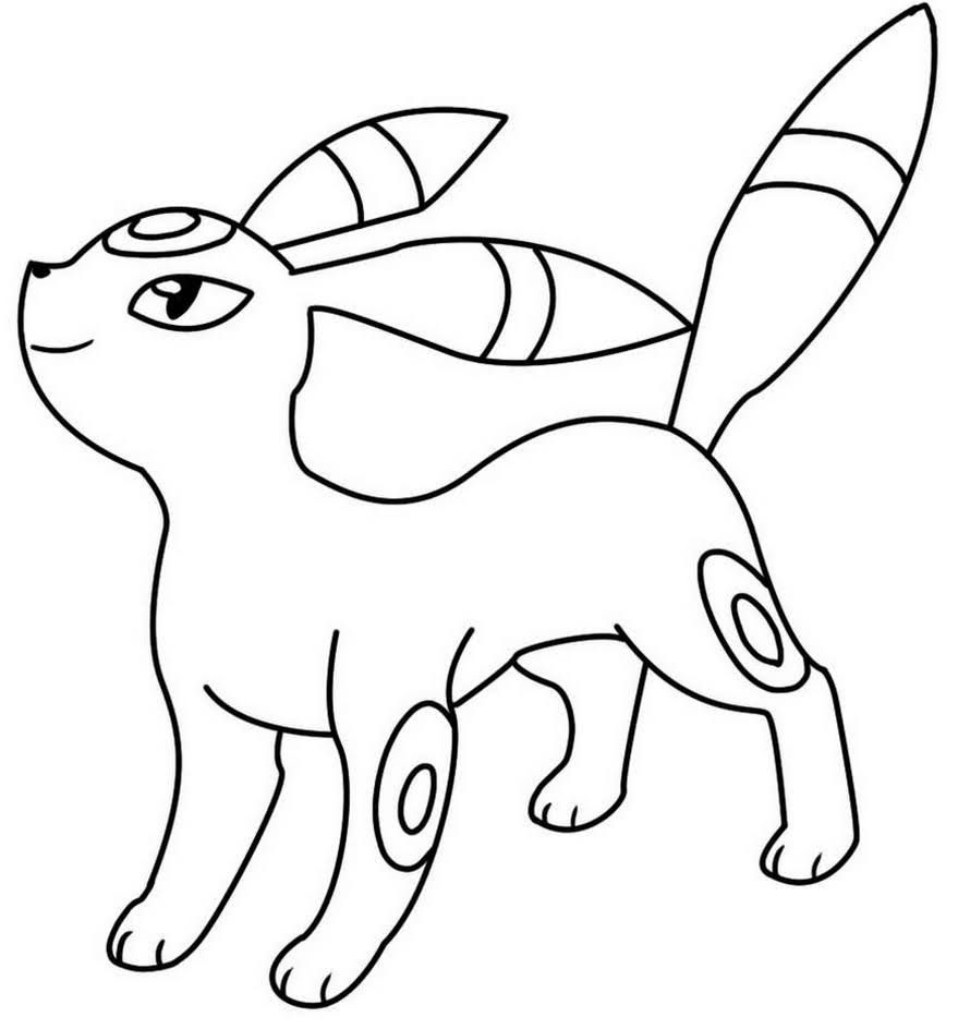 Umbreon Pokemon Coloring Pages Printable Pokemon Coloring Pokemon Coloring Pages Drawing Base