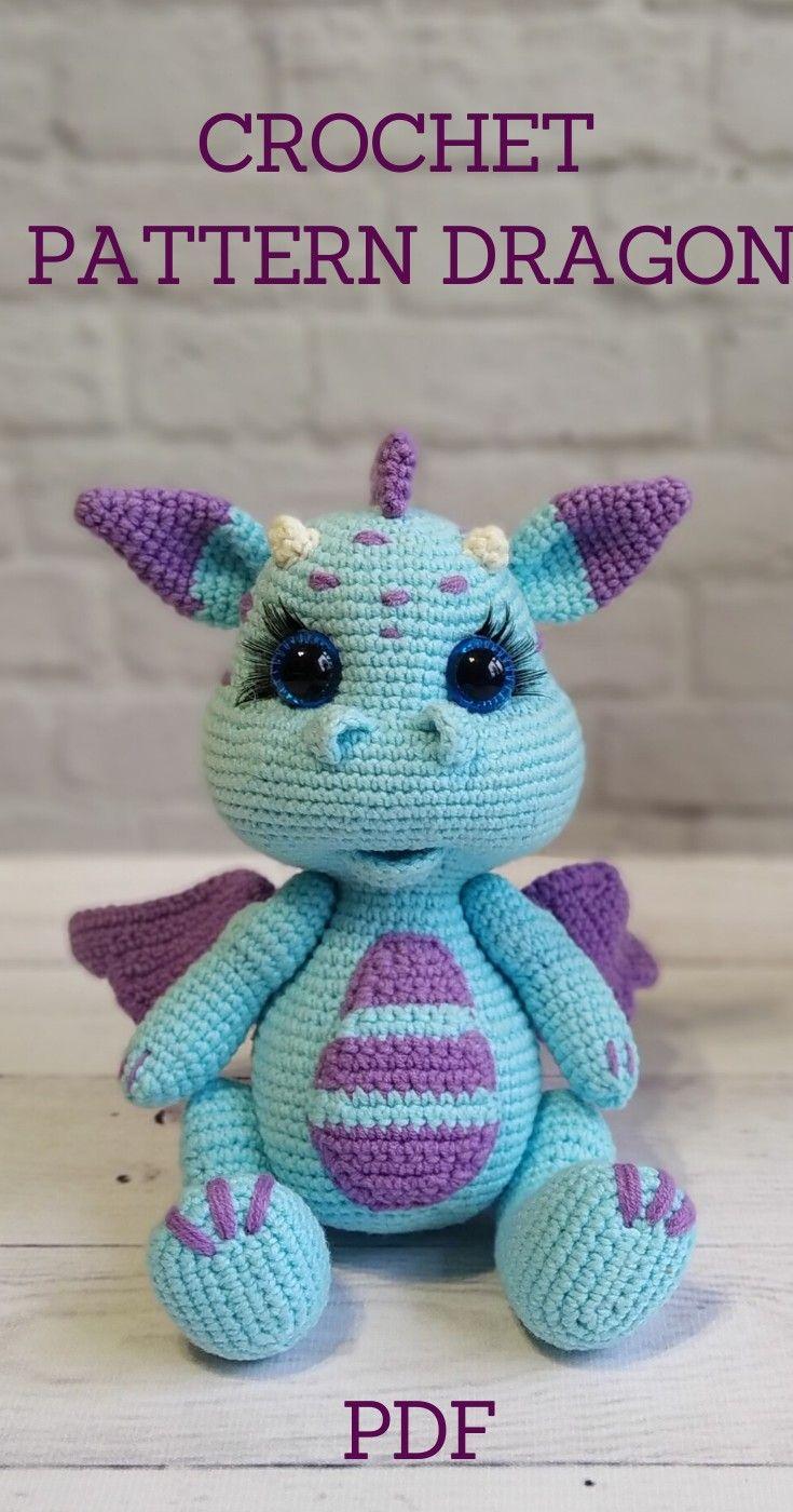 Crochet Dragon. Patterns Dragon.Amigurumi patterns #crochettoys
