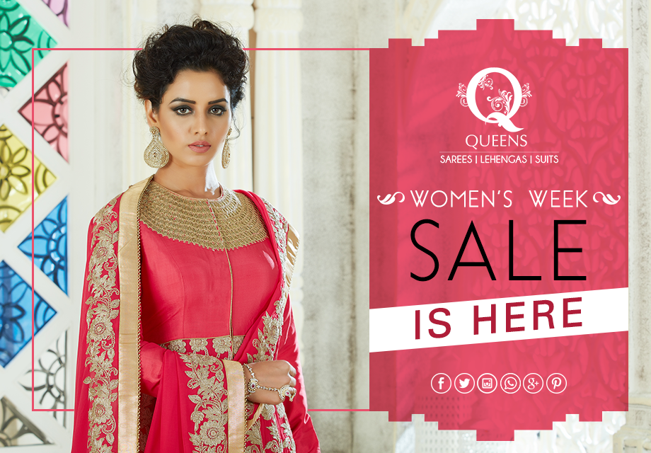 Come join us as we celebrate the spirit of womanhood all week long. Get exciting discounts on the best styles. Take over the fashion game and strut #likeaqueen. #QueensEmporium #womansweek