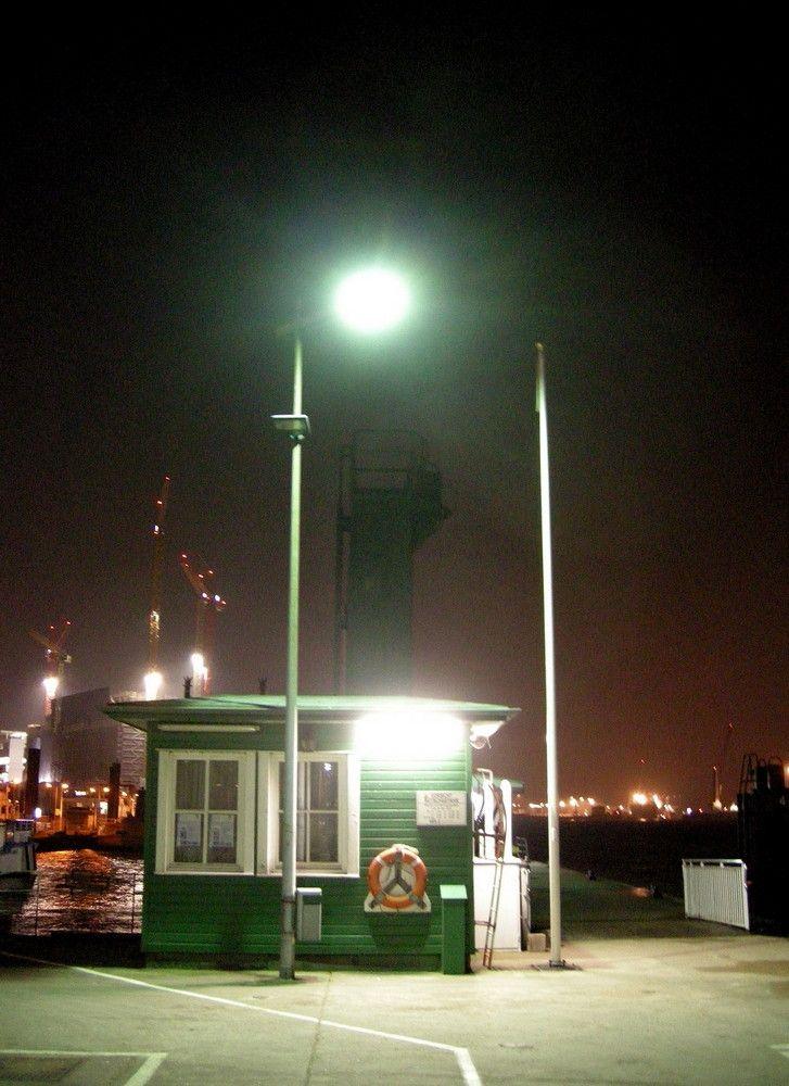 Hamburg Nacht am Hafen