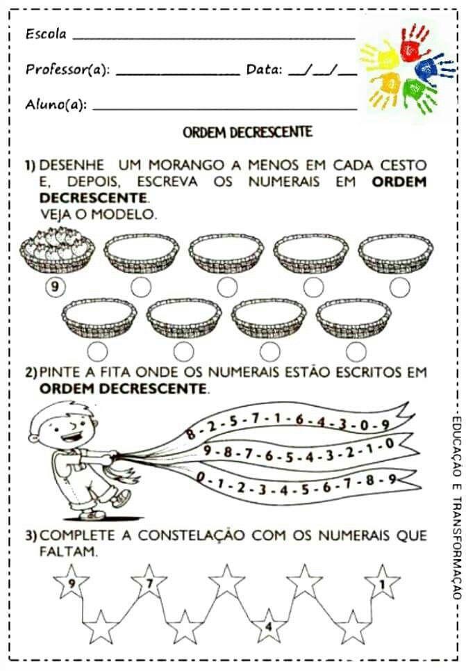 Pin De Jamile Meyre De Oliveira Em Matematica Ordem Crescente E