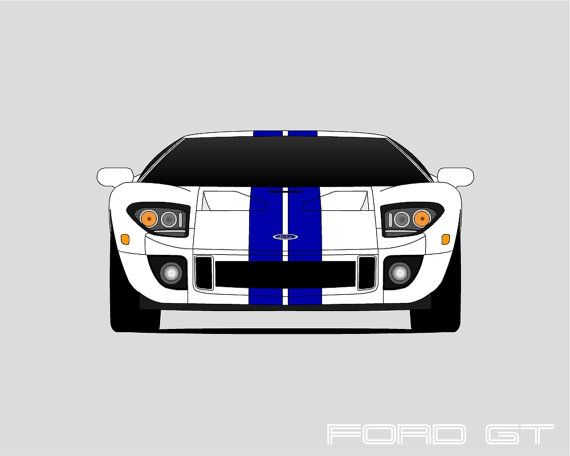 Ford Gt  Ford Gt Ford Gt Print Poster Art Ford Gt Le Mans And Ford