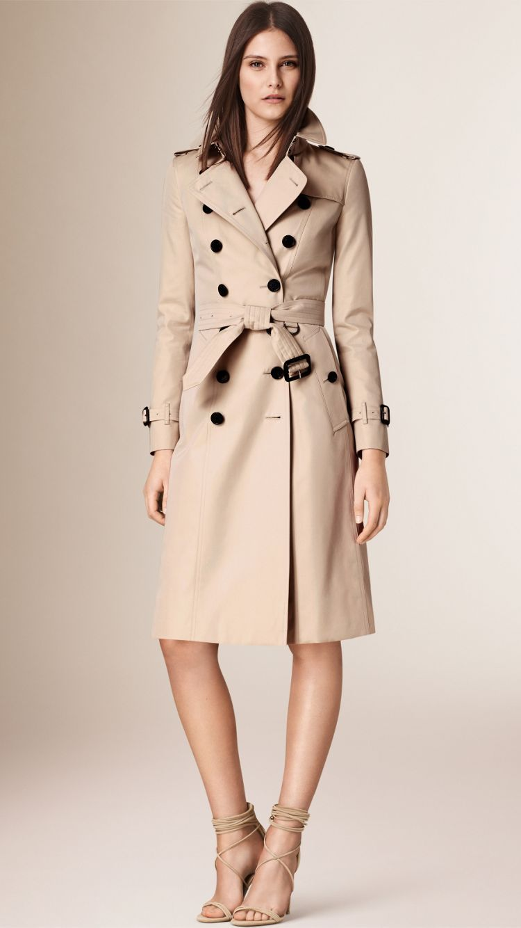The Chelsea – Extra-long Trench Coat in Stone - Women   Burberry ... f00ba6697c6