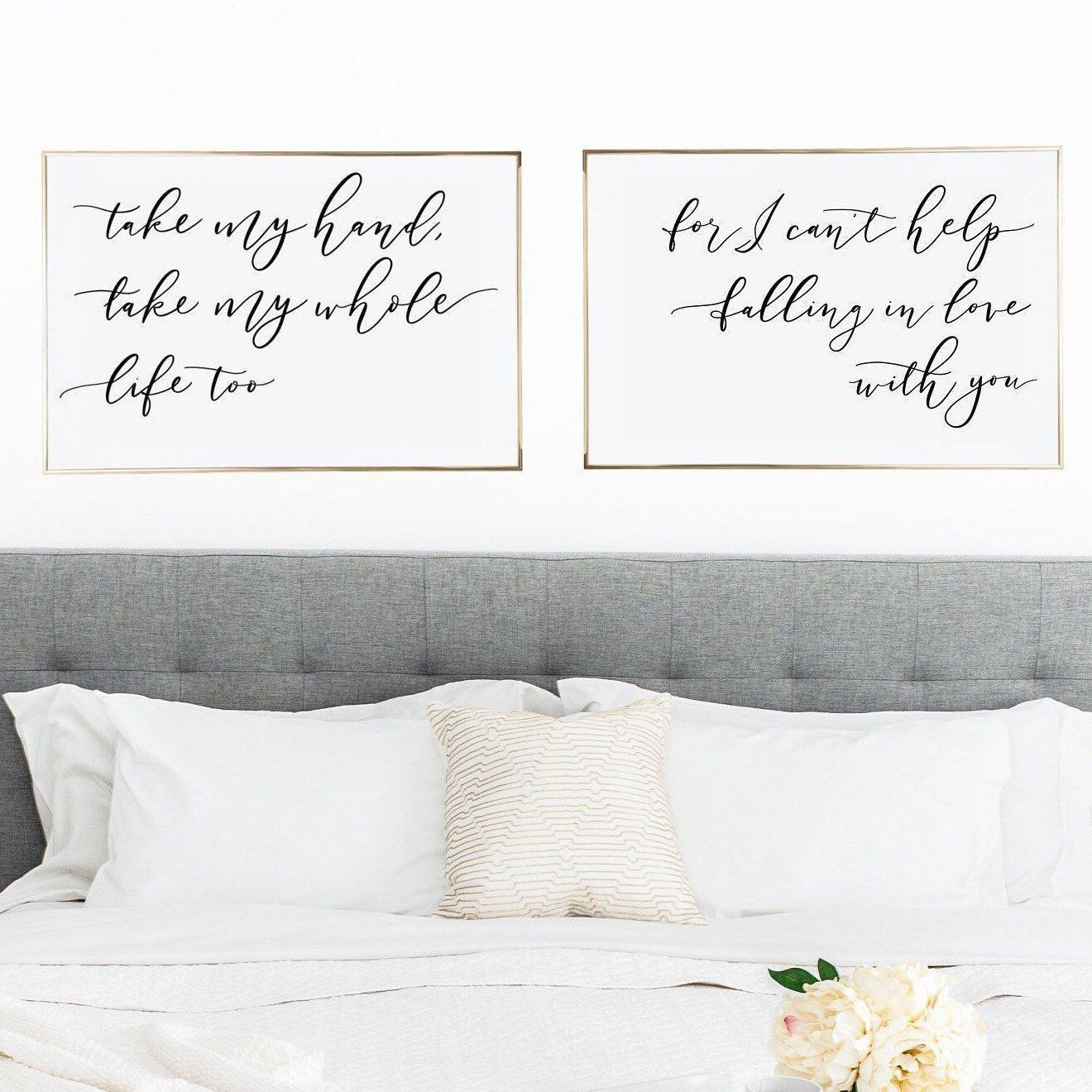 Falling In Love With You Printable Wall Art Set Of 2 Prints Etsy Wall Printables Elvis Quotes Artwork Above Bed