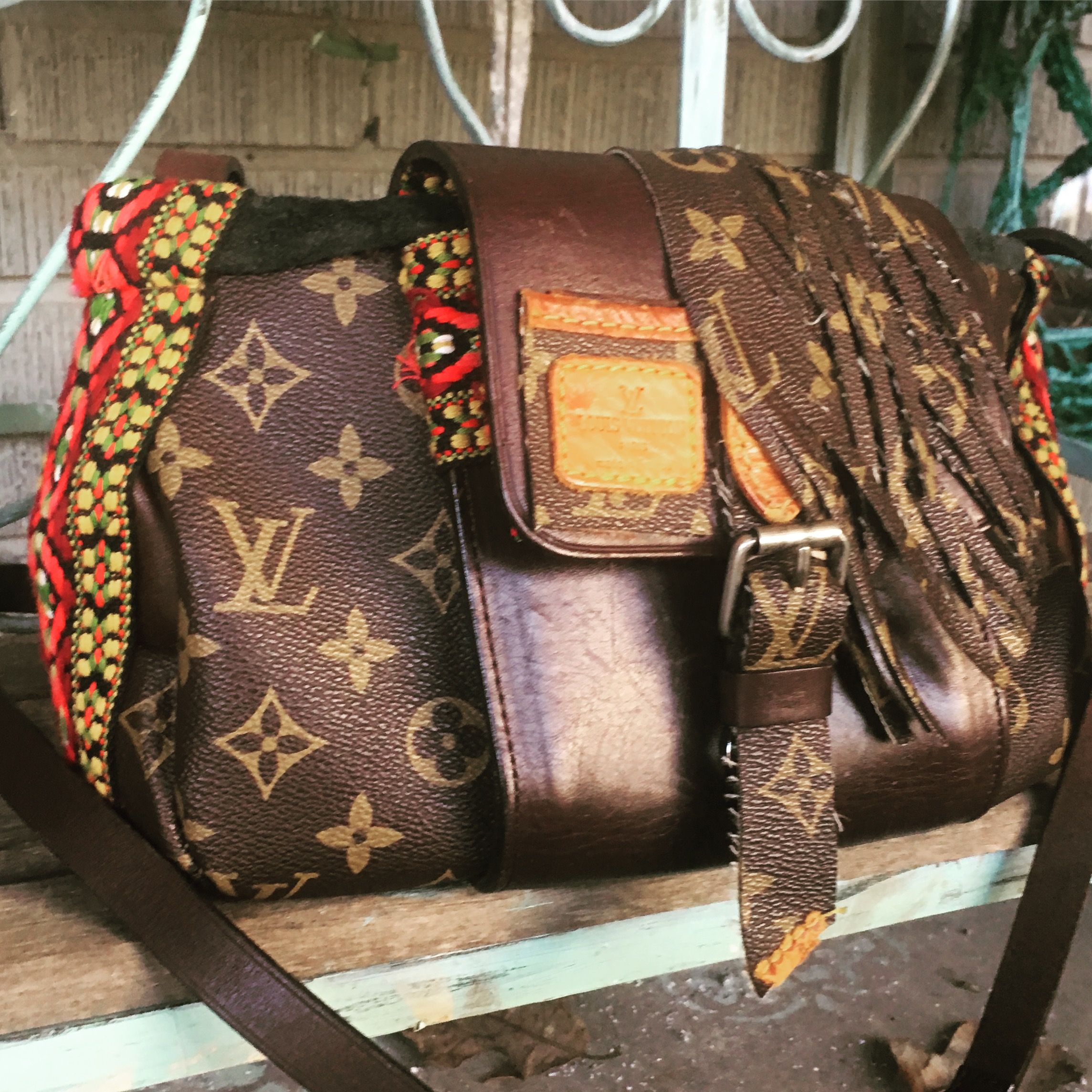 Upcycled repurposed Louis Vuitton. A new project I ve started ... c88cce74959dc