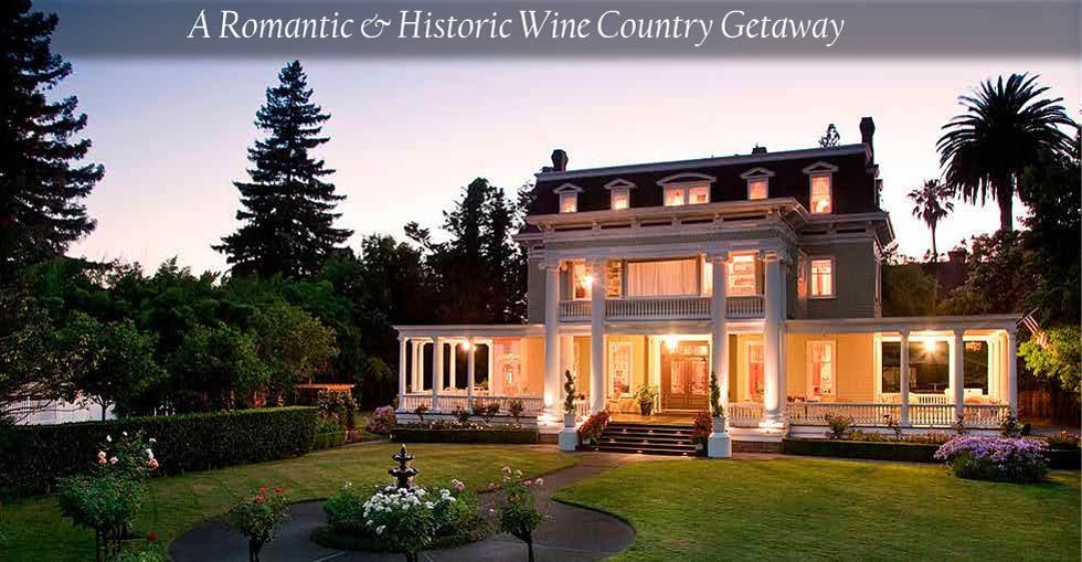 Napa Valley, CA Bed and Breakfast - Discover your perfect Napa getaway at Churchill Manor #travel #lodging #wine