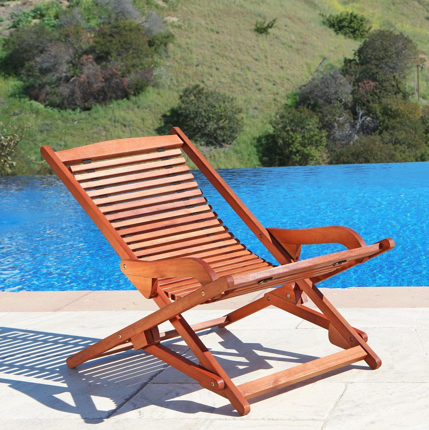 Malibu Outdoor Wood Folding Lounge