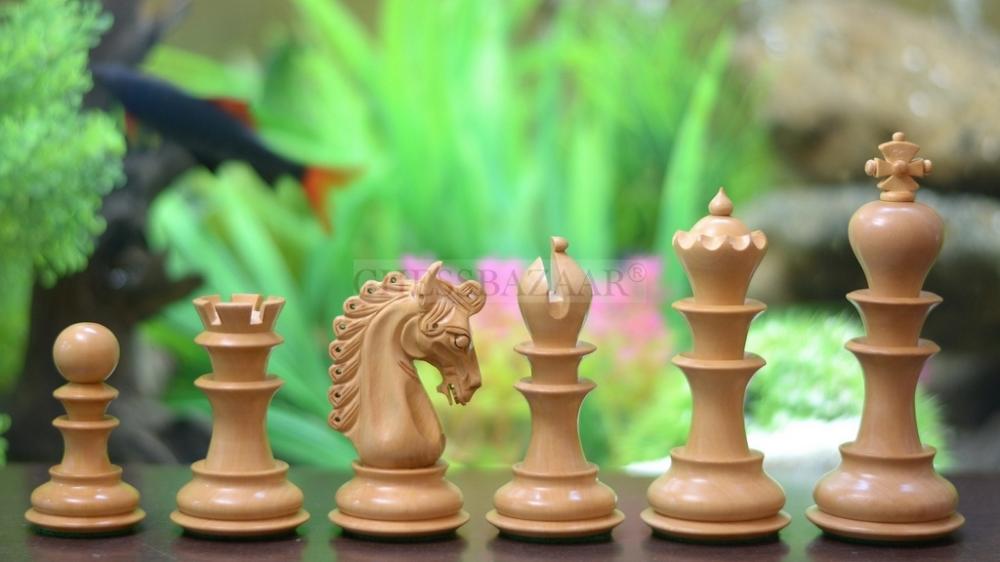 The Hurricane Series Staunton Luxury Chess Pieces in Ebony