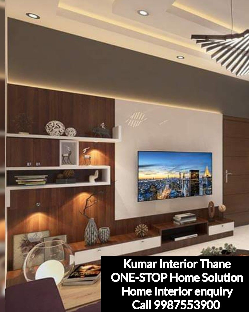 Tv Unit Design By Kumar Interior Thane With Images Residential