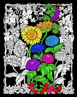 Sunflower Garden - 16x20 Fuzzy Velvet Poster by Stuff2Color ...