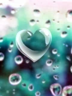 إكتب أسمك على شكل قلب حب أون لاين مداد الجليد Heart In Nature Rain Wallpapers Heart Images