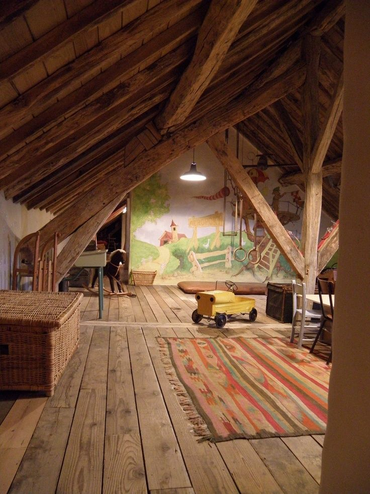 Pin By Ariel Nichols On Home Dining Living Room Attic House Attic Rooms Attic Renovation
