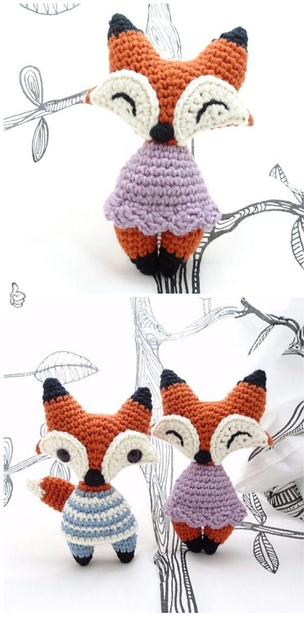Crochet Fox Patterns for Kids Tutorials