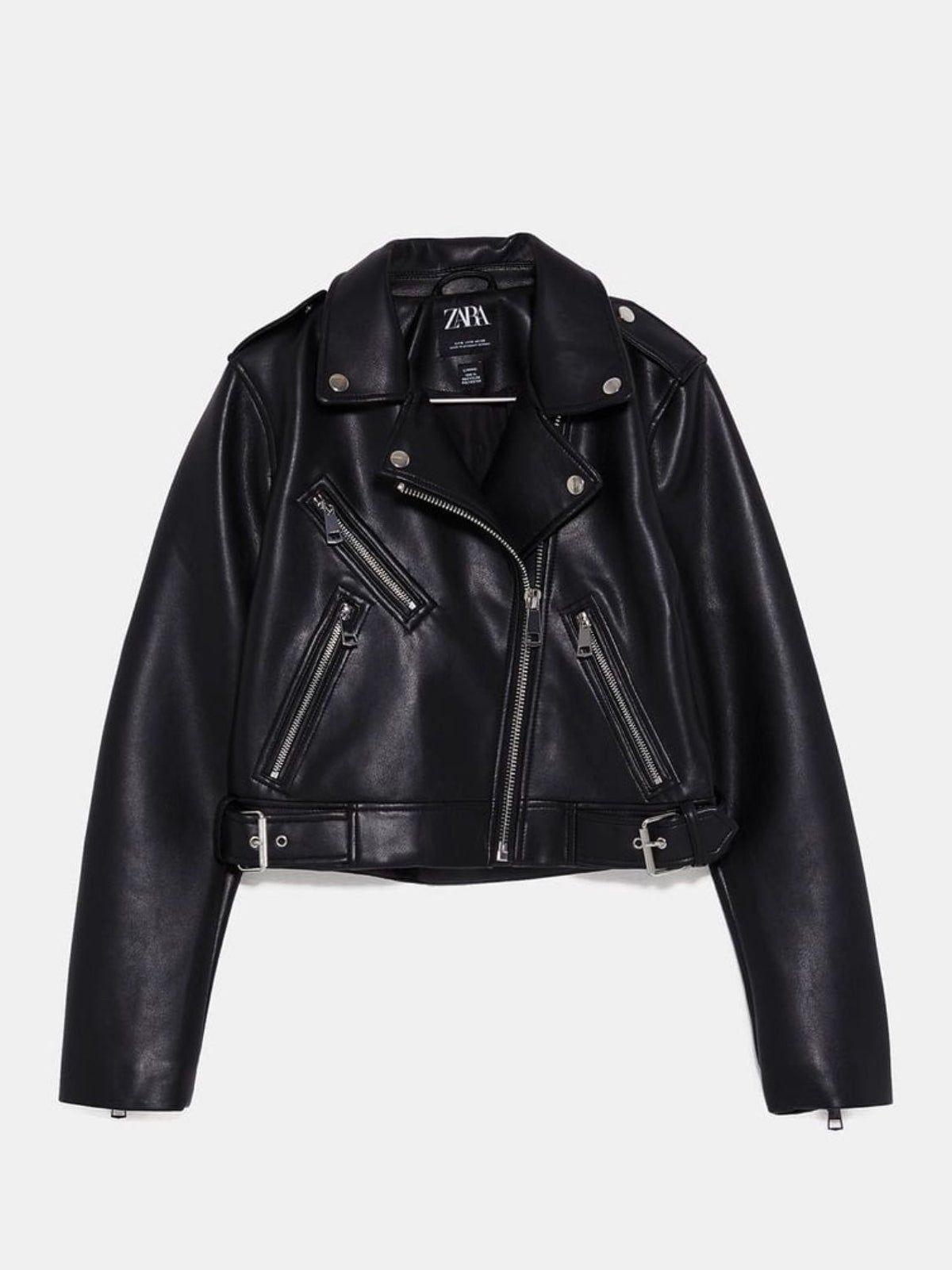 Zara Faux Leather Jacket In 2021 Leather Jackets Women Faux Leather Jacket Women Faux Leather Jackets [ 1601 x 1200 Pixel ]