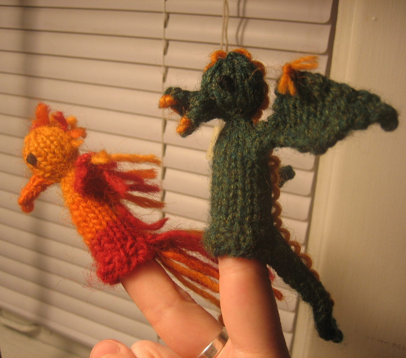 Dragon Knitting Patterns | Finger puppets, Puppet and Knitting patterns