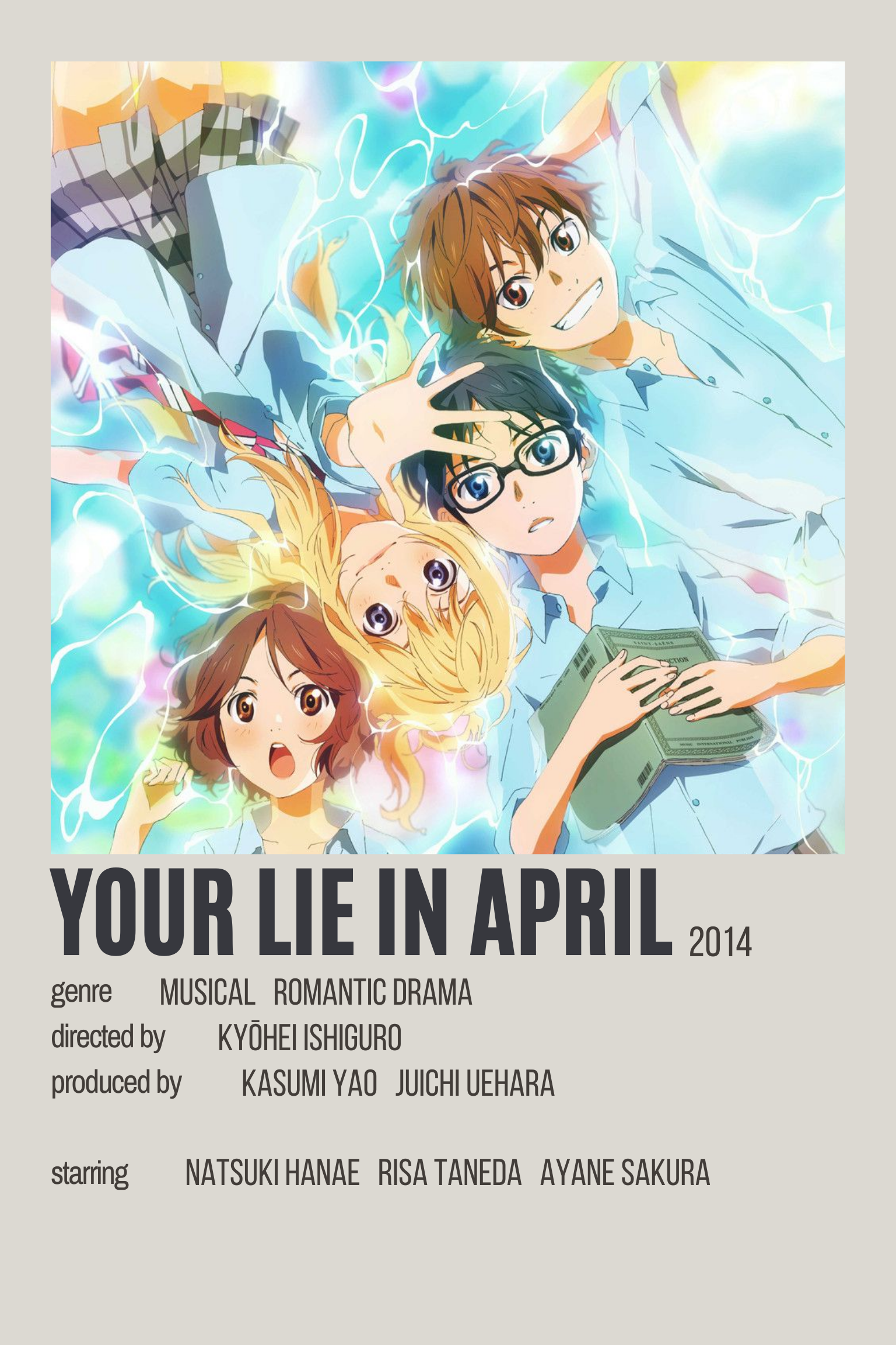 your lie in april by kellie anime
