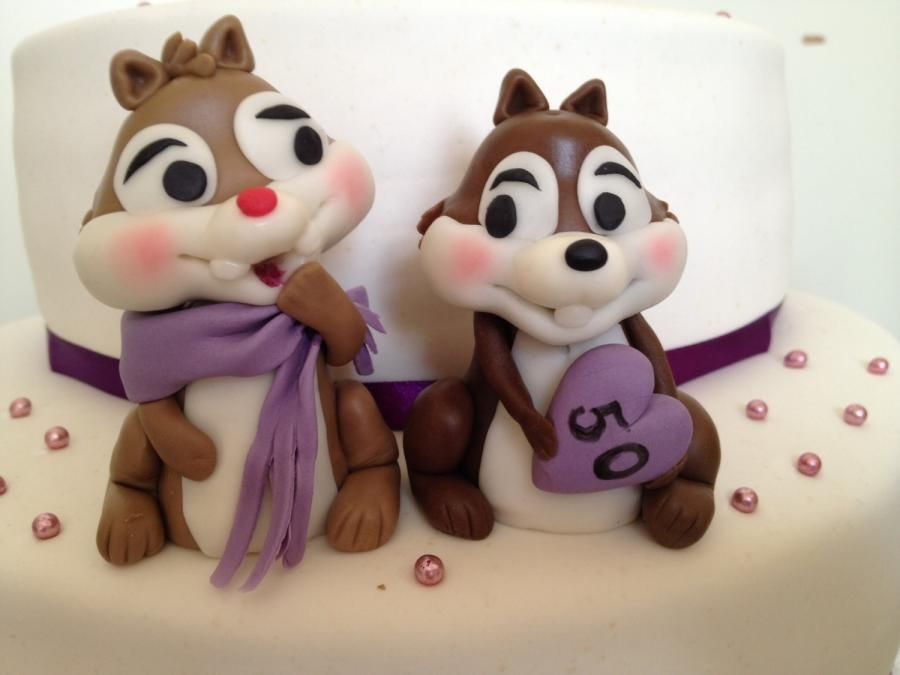 Chip and Dale birthday cake
