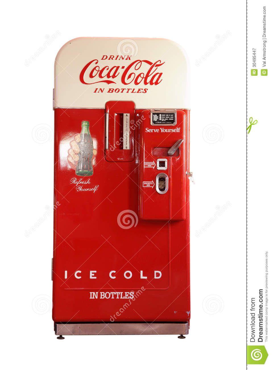 Superbe Distributeur Automatique De Coca Cola De Vintage Photographie ... Meuble  Vintage, Distributeur