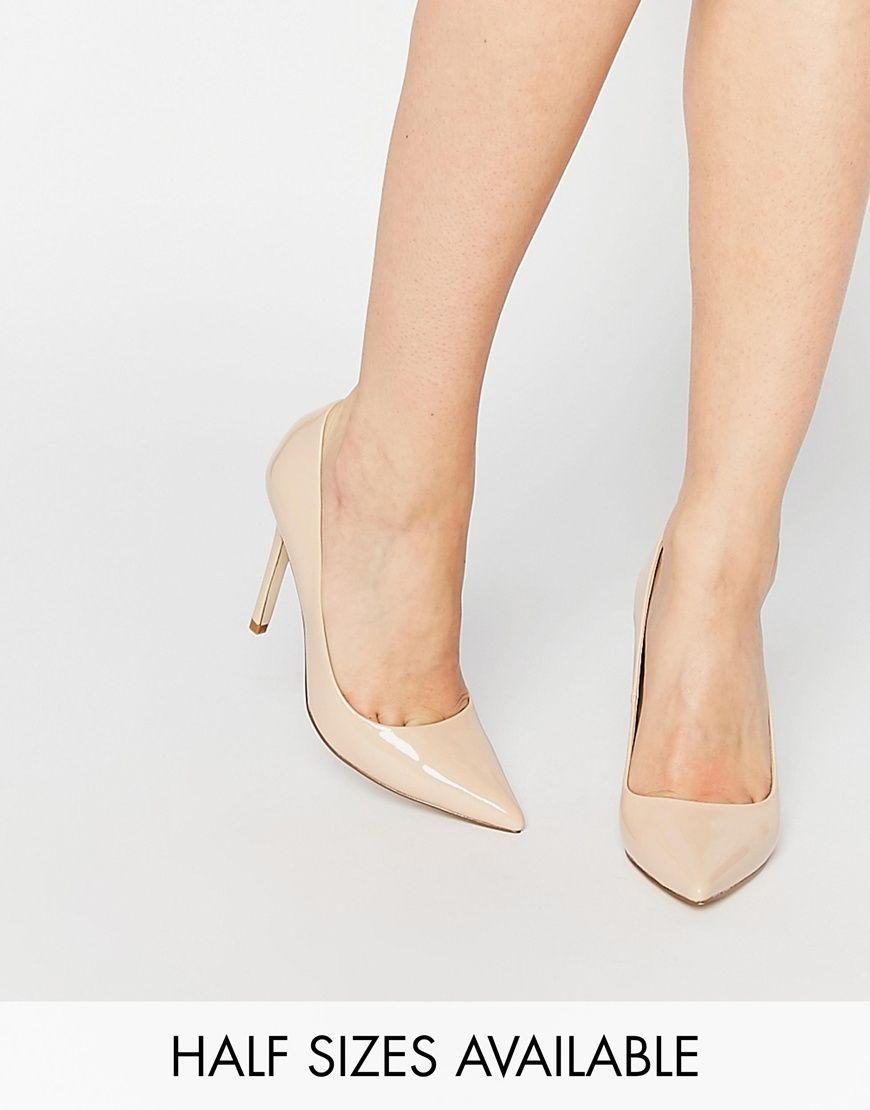 PERU Pointed High Heels - Nude metallic Asos 1MDiJSuM