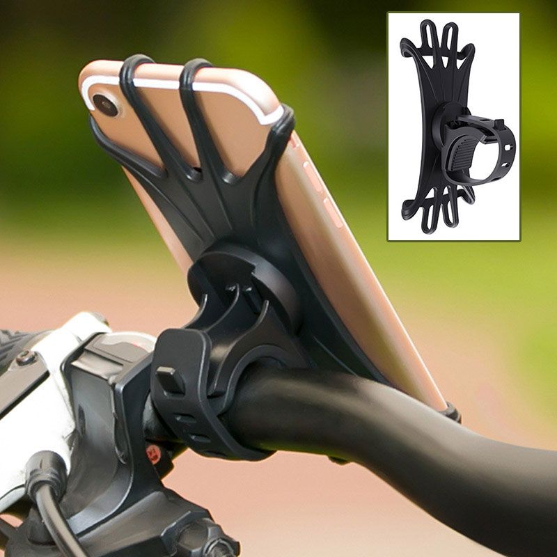 Universal Bicycle Phone Holder Stand 360 Degree Rotating Bike
