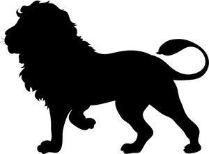 free silhouette clip art image silhouette of a lion the rh pinterest com