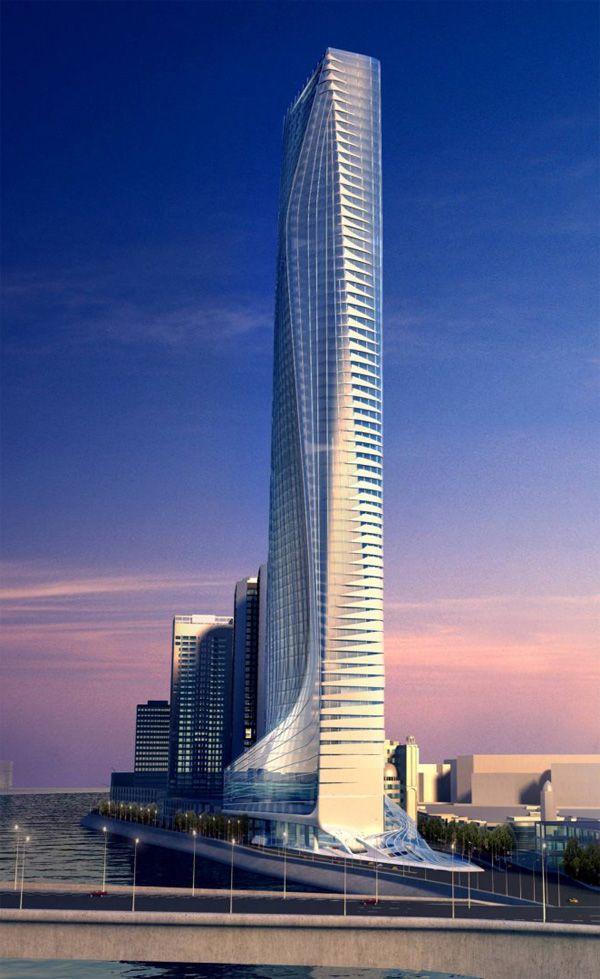 Modern Architecture Zaha Hadid nile tower, cairo, egyptzaha hadid #architecture ☮k