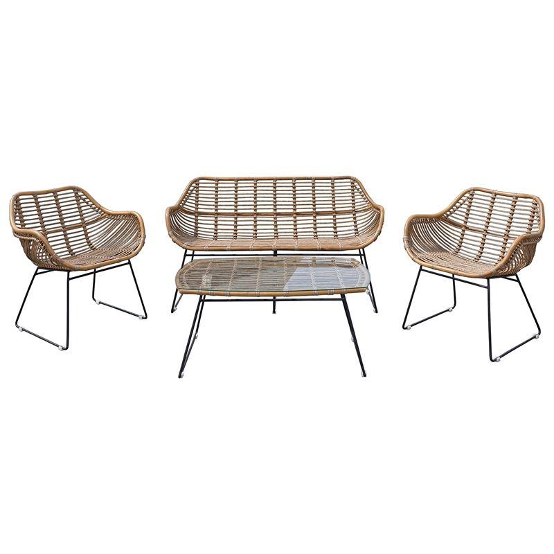 Hartman 4 Piece Brisbane Outdoor Lounge Setting Outdoor Lounge Outdoor Lounge Set Outdoor Chairs