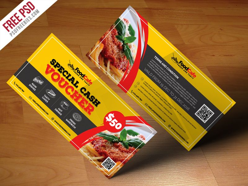 Food Cash Voucher Template Free Psd  Template And Print Templates
