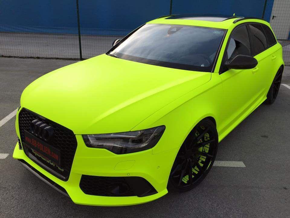 Fluorescent Yellow Neon Audi Rs6 Fluorescent Yellow Neon Audi