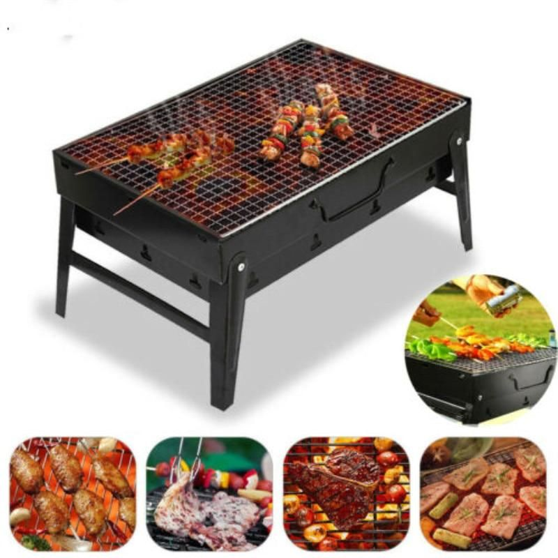 Mini Foldable Bbq Grill Stainless Steel Folding Bbq Barbecue Grill Portable Charcoal Grill