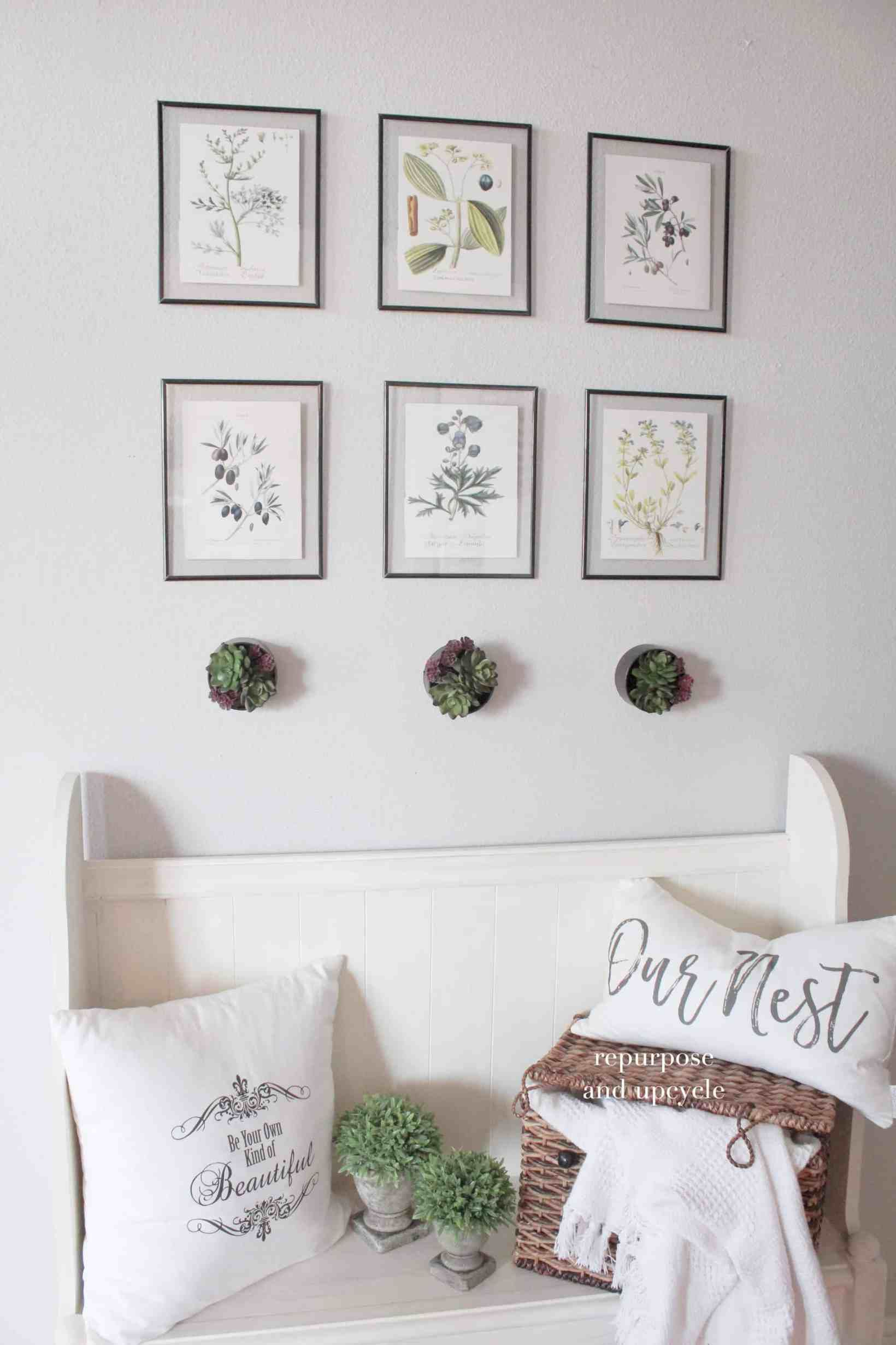 Diy Wall Planter For Indoor Decor And Free Botanical Printables