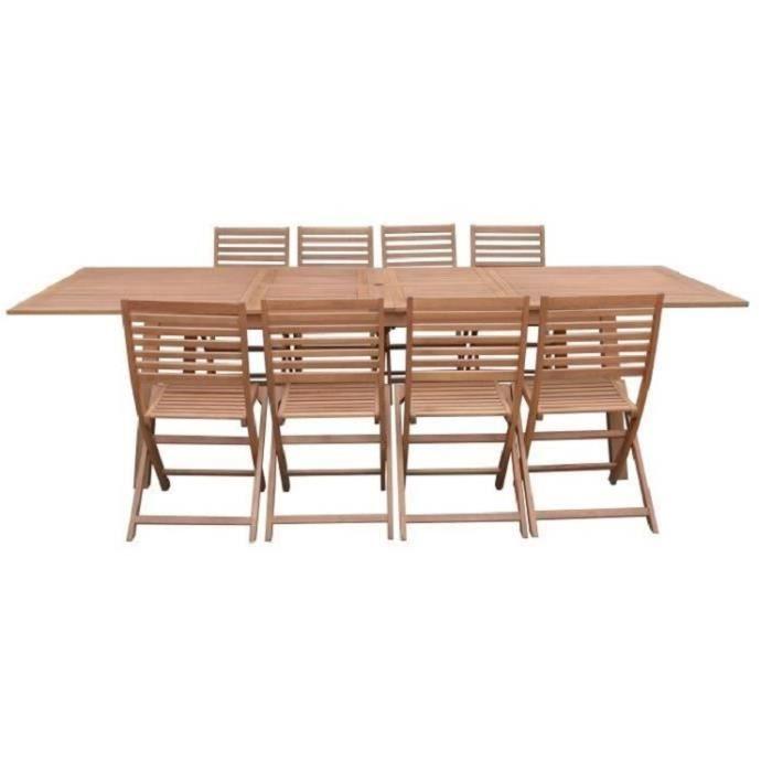 Ensemble Repas De Jardin 8 A 12 Personnes Table Extensible 200