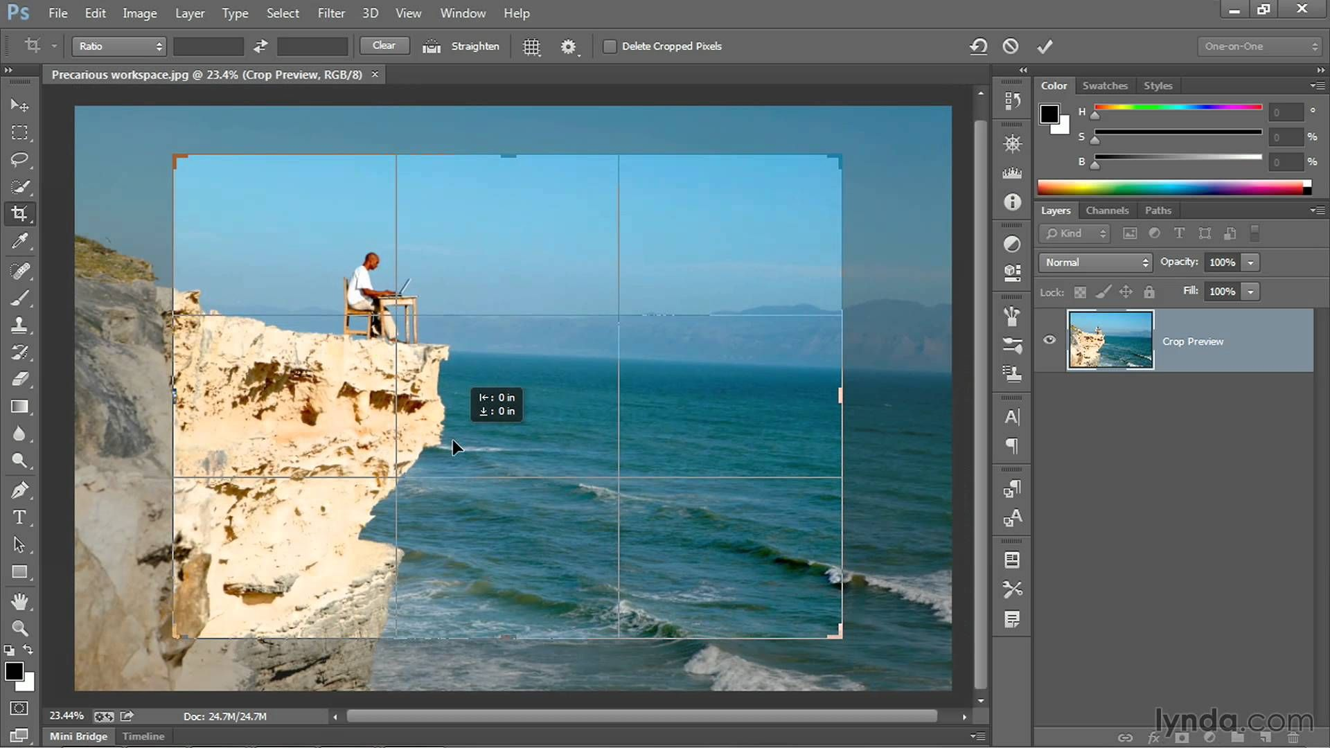Photoshop tutorial: The new and improved Crop tool | lynda com