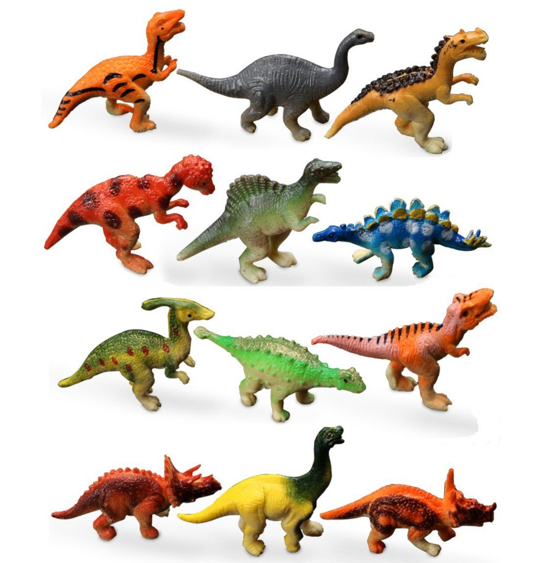 12 Pack Realistic Dinosaurs Figures Toys Assorted Dinosaur Figures 12 Dinosaurs