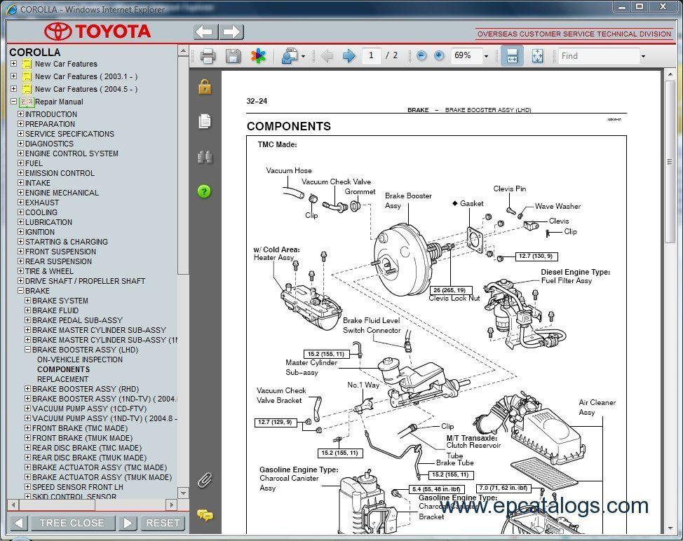 corolla repair manual download