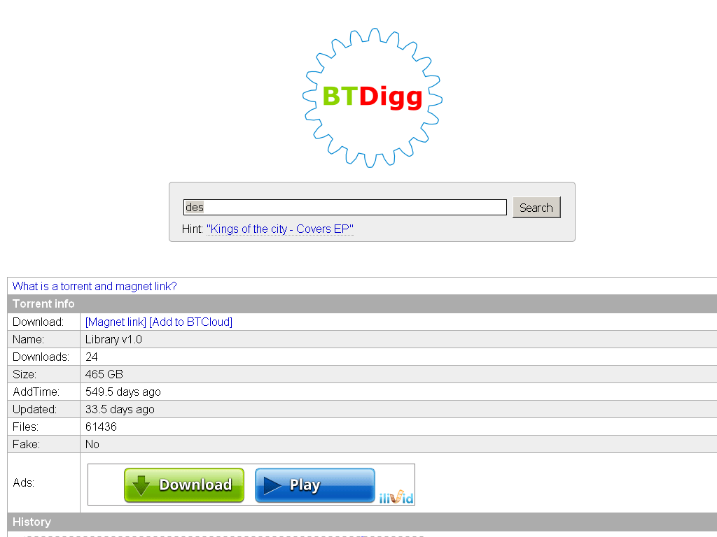 BTDigg Proxy | List of BTDigg Unblocked Proxies and Mirror Sites