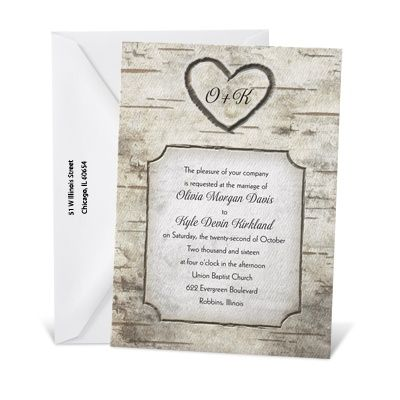 Woodsy Monogram Wedding Invitation 379 78 For 200 These Are More