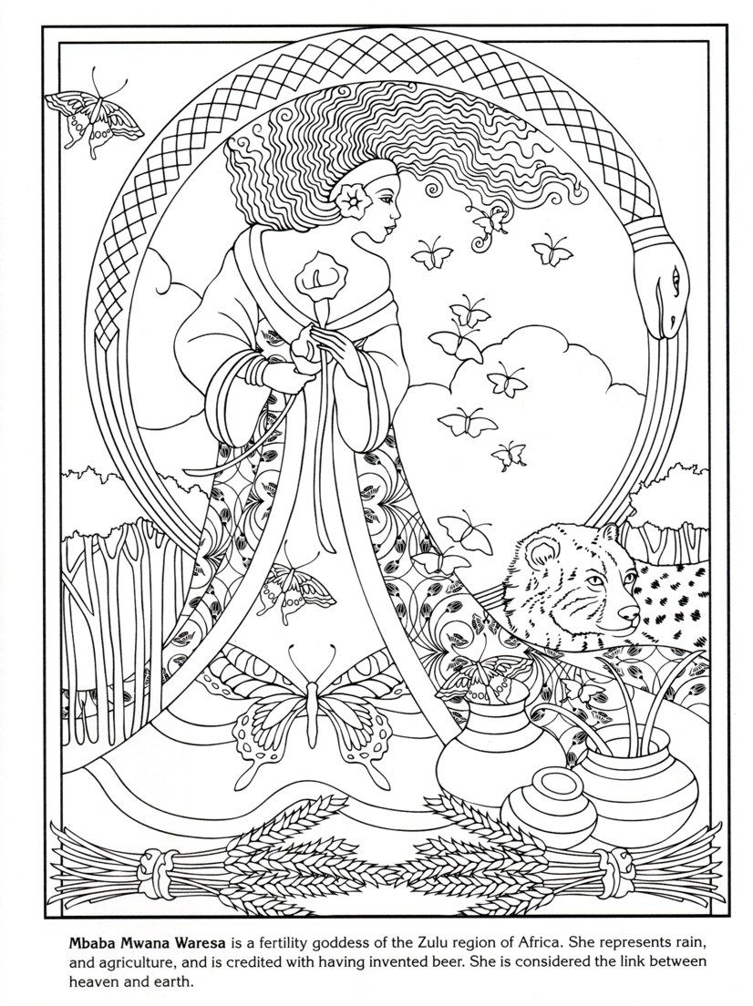 Dover Publishing Goddesses Fairy Coloring Pages Cool Coloring Pages Coloring Books