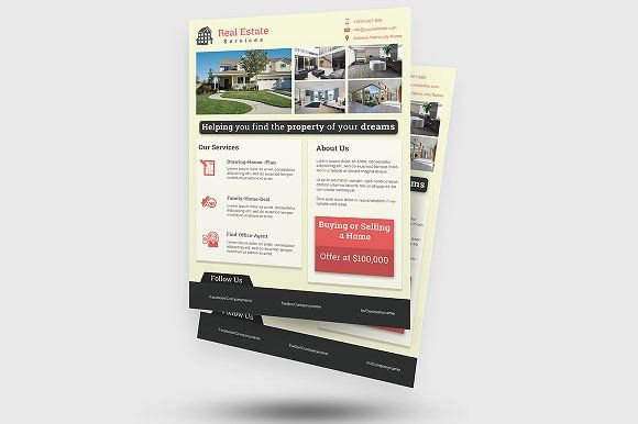 Real Estate Flyer By Creative Designer On Creativemarket Awesome