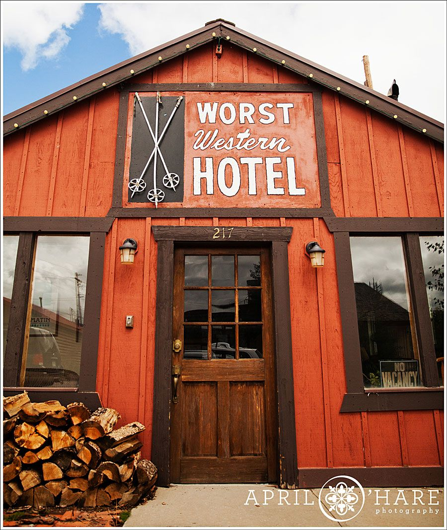 The Worst Western Hotel In Fraser Colorado I Saw This From Across Street At